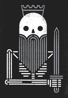 Dead king dribbble large #skeleton
