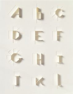 Google Reader (15) #alphabet #paper #die #cut
