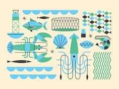 grain edit · Brad Woodard #marine #illustration #vector #nautical
