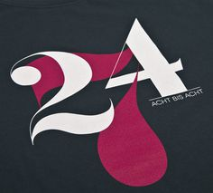 NATRI - 24/7 - T-Shirt (charcoal grey): TWENTY-FOUR-SEVEN - EIGHT TO EIGHT #silkscreen #apparel #modern #print #design #graphic #shirt #minimal #fashion #type #typography