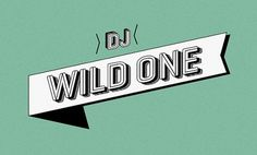 Dj Wild One on the Behance Network #identity #brad #ribbon