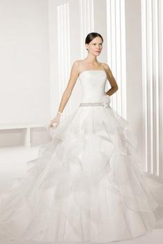 Robe de mariée grandiose à la mode bombé avec perle cordon - photo 1
