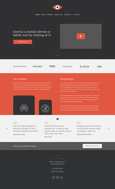 Theeyetribe_realpixels #flat #minimalist #design #web