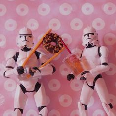 Have a break #paris #toys #tumblr #photographie #donuts #team #troopers #soda #picture #color #ment #wars #re #audreyevrard #polacolor #star #fun #story