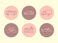 Transportation_icons #icon #symbol #pictogram #transportation