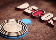 Decor8 on Behance #wood #real #type #fake #3d
