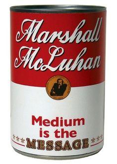 Marshall McLuhan - design:related #design #warhol #art #mezhibovskaya #nyc #katya #package #typography