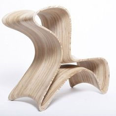 Marco Hemmerling's Triwing Chair - Core77 #wood #twiring #design #chair