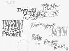 "Desired Hearts × 86era Tees — ""Pursue Your Passions"" on Typography Served #graphic design #type #logos"