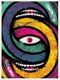 GigPosters.com - Mogwai - Errors #teeth #gig #design #print #screen #eye #poster