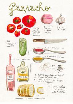 felicitasala_02 #illustration #recipe #watercolor #food