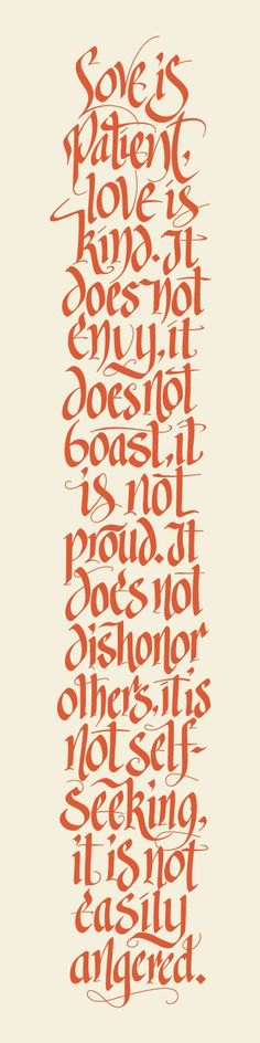 Corinthians by Jeff Jenkins #typography #calligraphy #handlettering