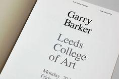 Garry Barker : Tim Wan : Graphic Design