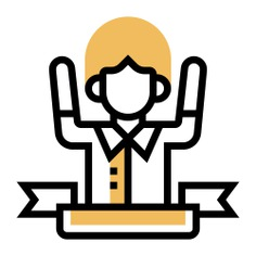 See more icon inspiration related to success, conquer, achievement, winner, user, boy, avatar, victory, man, person and people on Flaticon.