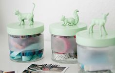 Animals on jars