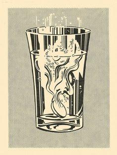 FFFFOUND! | Tumblr #illustration #art #simple #pop #pop art #halftone #bold #lichtenstein