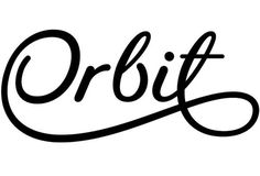 Orbit exploratory logo development for the Orbit art structure #type #seb #script #lester