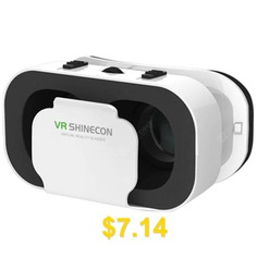 VRSHINECON #3D #Headband #Virtual #Reality #Glasses #for #Smartphone #- #WHITE