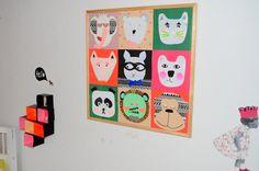 leizyb boernevaerelse collage dyr 3 #illustration #characters