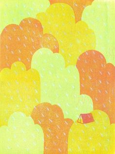 design work life » cataloging inspiration daily #clouds #illustration #rain #tent