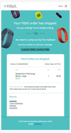 fitbit | Shipping Confirmation Emai