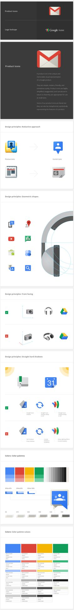 Google Visual Assets Guidelines Part 1 on Behance #google #brand guidelines #visual assets