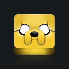 Jake the Dog by aparaats #jake #icon #adventure #the #time #face #dog