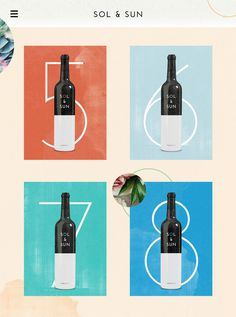 Sol & Sun - Amy Martino - Design + Art Direction #wine