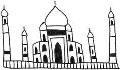 Taj Mahal #illustration #drawing