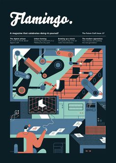 Flamingo (London, UK) #design #graphic #cover #illustration #editorial #magazine
