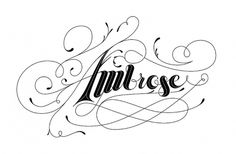 All sizes | Ambrose Type Treatment | Flickr - Photo Sharing! #type #script