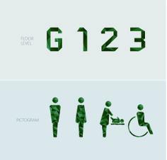 Wayfinding | Signage | Sign | Design | toilet 绿色几何多面立体公园卫生间指示标识