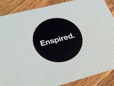 Dribbble - Enspired Creative Business Cards by Ben Bate #side #lines #white #ways #print #black #simple #enspired #maple