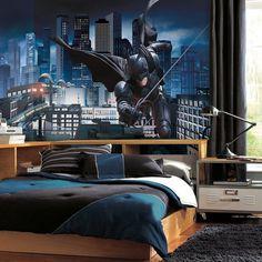 The Dark Knight Rises Prepasted Batman Mural #kid #home #batman #sticker #decal