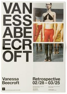 Vanessa Beecroft VBRS - Experimental Jetset #poste #experimental #photography #poster #jetset #typography