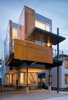 WANKEN - The Blog of Shelby White » Front to Back Residence #steel #house #wood #architecture #residence