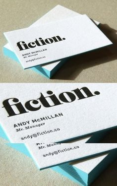 Edge Painted Letterpress | Business Cards Observer #print #cards #business #typography