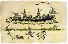 Illustration – Kong Wee Pang #fishing #boat