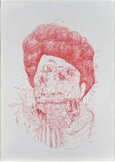 Untitled | Flickr - Photo Sharing! #red #bird #eye #bear #drawing
