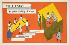 Isotype / Voter registration in the Western Region of Nigeria #design #graphic #nigeria #info #isotype #voting #graphics