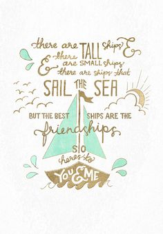 FRIEND-SHIPS hand lettering #ocean #lettering #leaf #ship #drawn #gold #sail #hand
