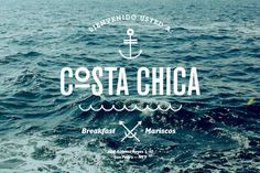 Costa Chica Branding, by SAVVY #inspiration #creative #water #branding #design #graphic #sea
