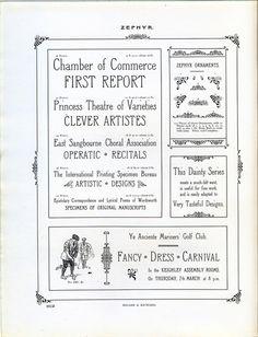Miller and Richard Zephyr type specimen. #typography