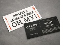 Oyler Market Barbecue & Brewery #card #brand #identity #business