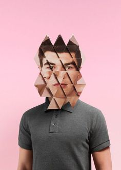 Buamai Damien Poulain, Mask. | Behind The Mask #face #origami #geometry