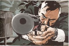 spaceshiprocket:Point BlankArt by Darwyn Cooke #gun