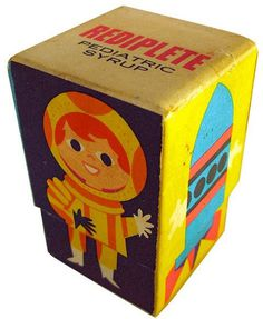 Delicious Industries: More Vintage Packaging #packaging #kid #illustration #rocket #kids #childrens #toy