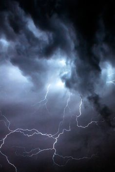Lightning 2 #clouds #electricity #lightning #photography #storm #thunder #fork