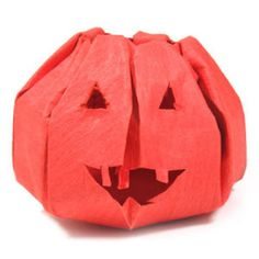 How to make an origami jack-o-lantern for Halloween (http://www.origami-make.org/howto-origami-halloween.php)