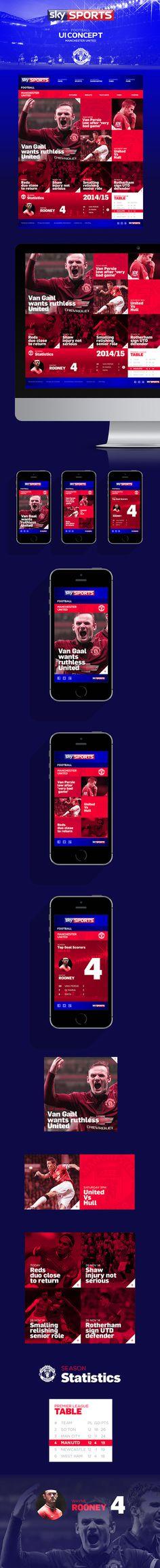 Sky Sports Football // UI Design Concept on Behance